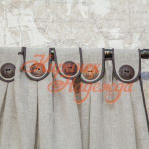 закать пошив штор с завязками