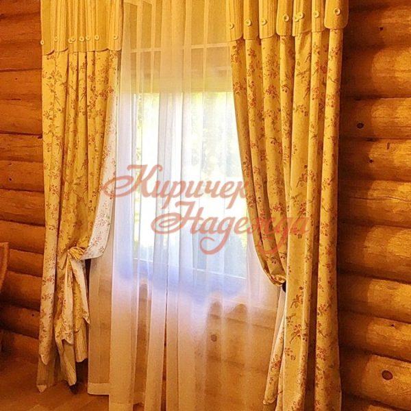 заказать пошив штор для рубленного загородного дома